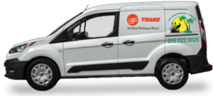 ac installation service van